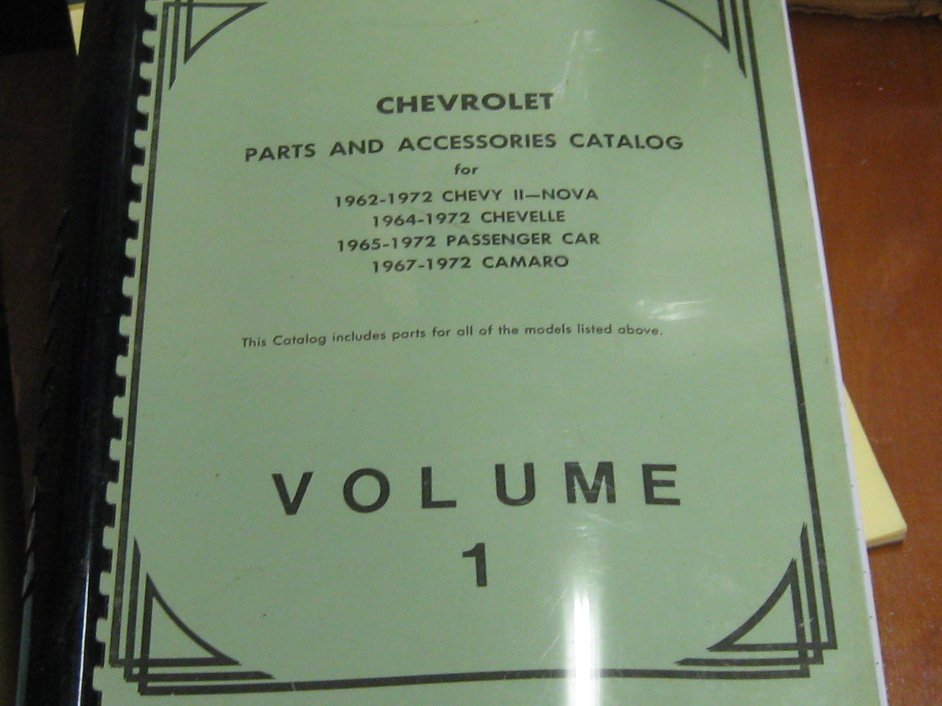 1962-1972 Chevrolet Parts and Accessories Catalog 4 volume