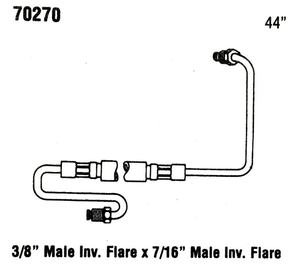 then and now automotive 70270 power steering hose
