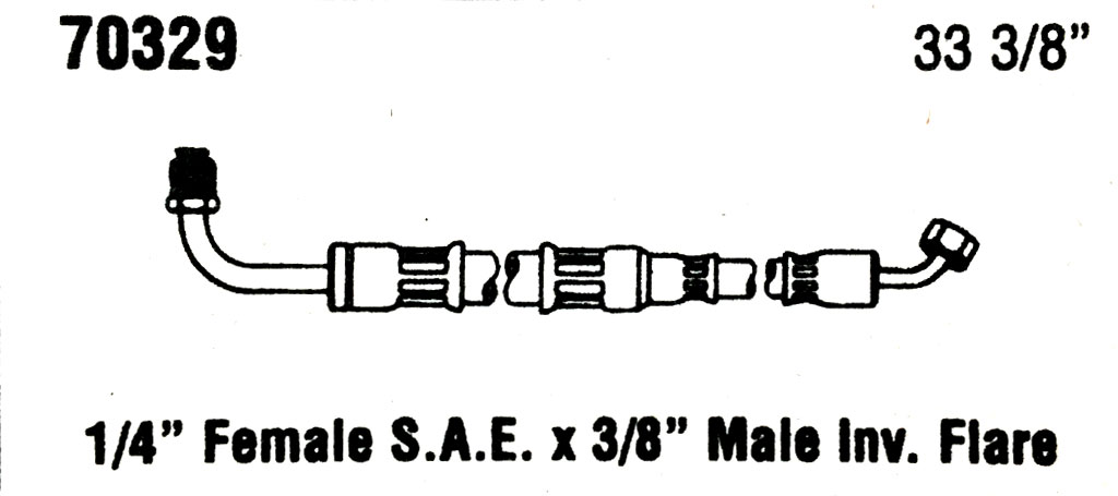 Then And Now Automotive 70329 Power Steering Hose Then