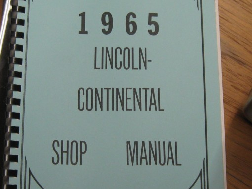 then and now automotive 1965 lincoln shop manual then. Black Bedroom Furniture Sets. Home Design Ideas