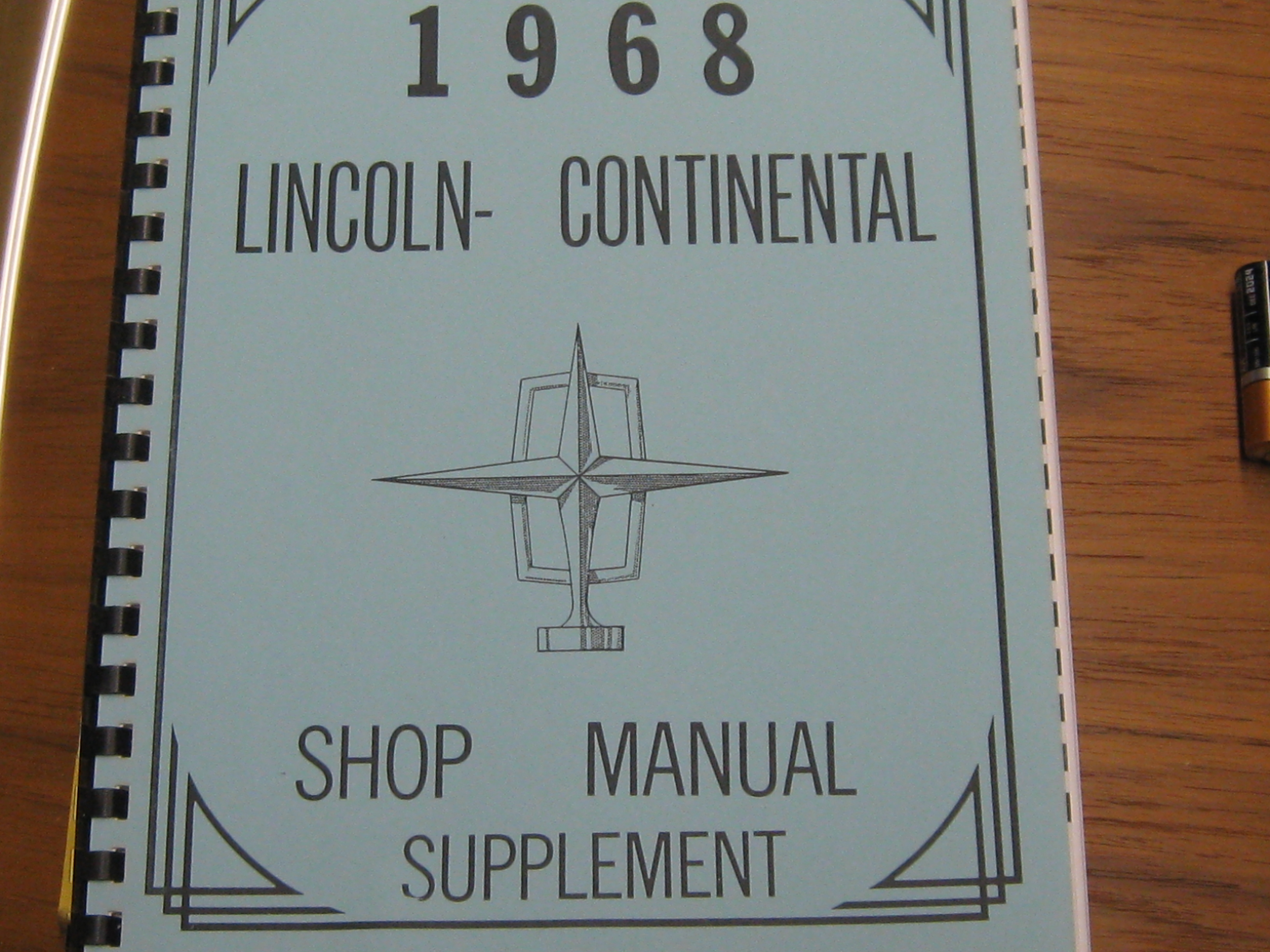 68 lincoln continental manual
