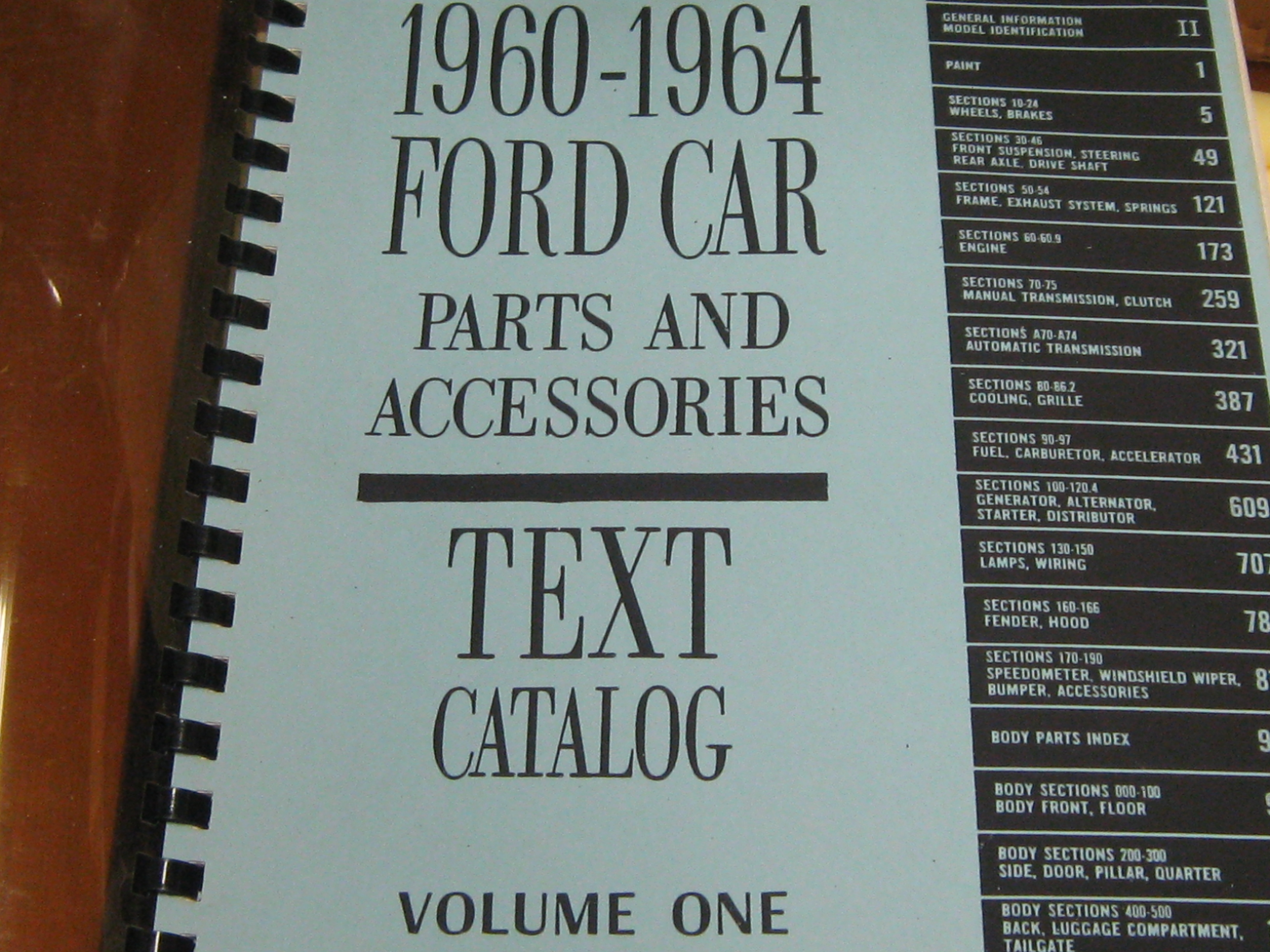 1960-1964 Ford Parts and Accessories Catalog , 2 Volume set