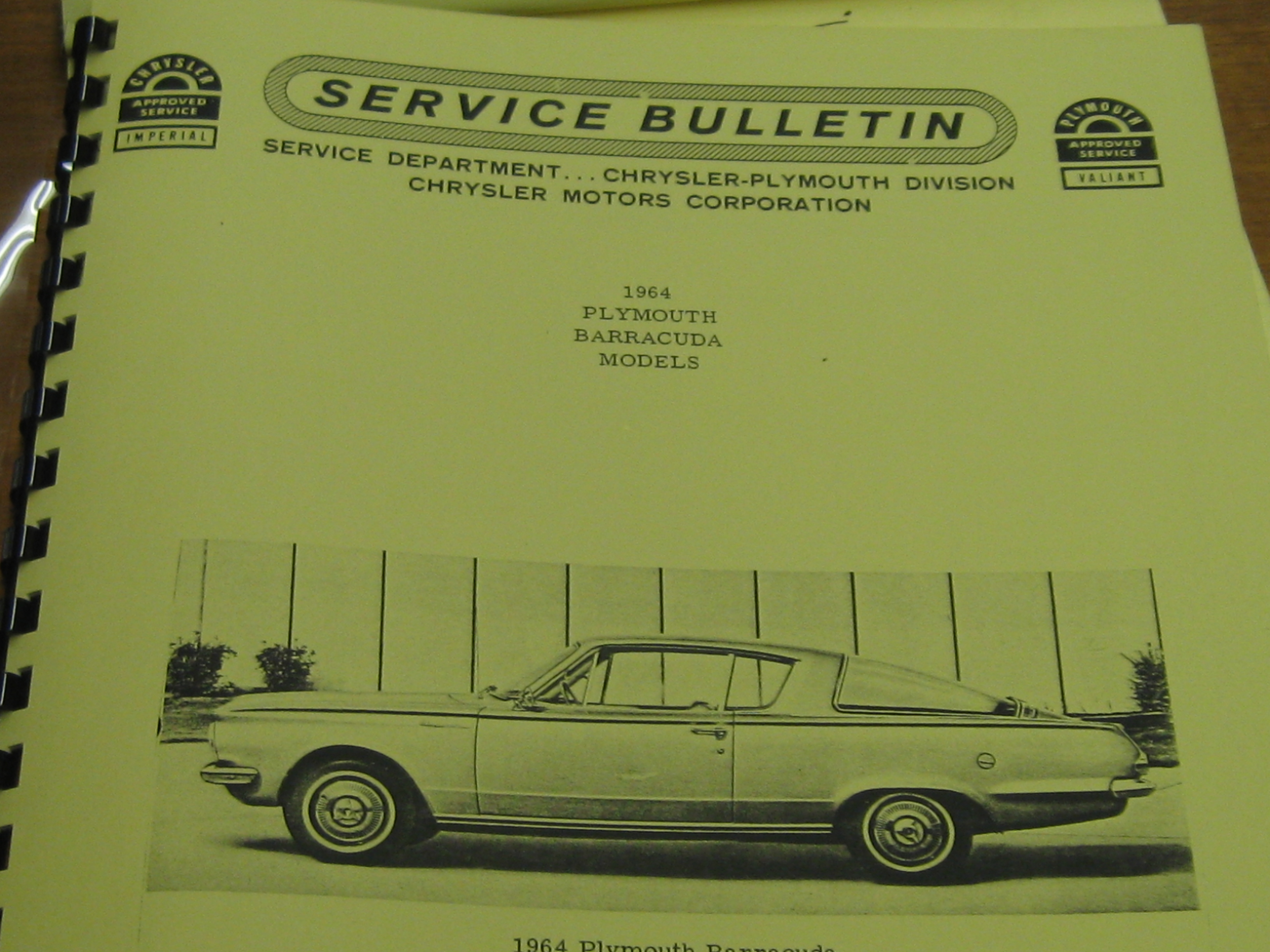 $10.00 Tax may apply. 74 in stock. Quantity. Add to cart. SKU: 1964  Plymouth Barracuda Service Buletin