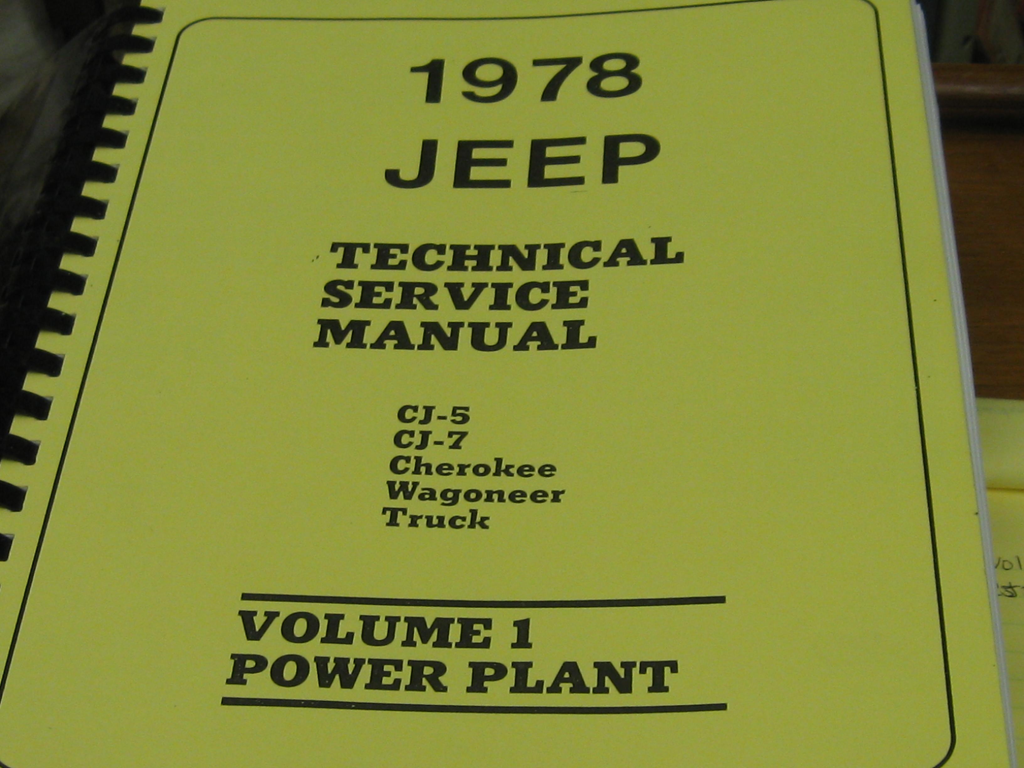 1982 jeep shop manual cj5 cj7 cj8 cherokee wagoneer truck.