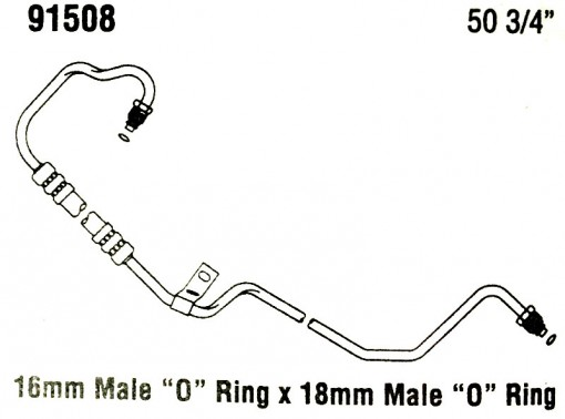 then and now automotive 91508 power steering hose