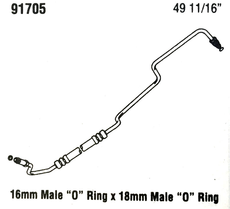 then and now automotive 91705 power steering hose
